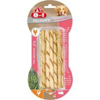 8in1 - Delights Twisted Sticks Pork 10pcs Os a mâcher pour chien
