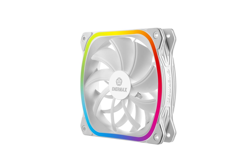 SquA RGB - Blanc - 1 ventilateur ultra-silencieux - 12 cm PWM