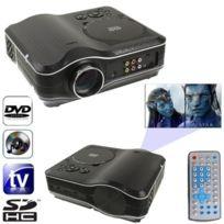 Wewoo - Vidéoprojecteur Dvd Projecteur Dvd portable avec fonction de récepteur Tv Pal / Ntsc / Secam, Av In / Out et de jeu, Support Sd / Mmc Card / Usb Flash Disk