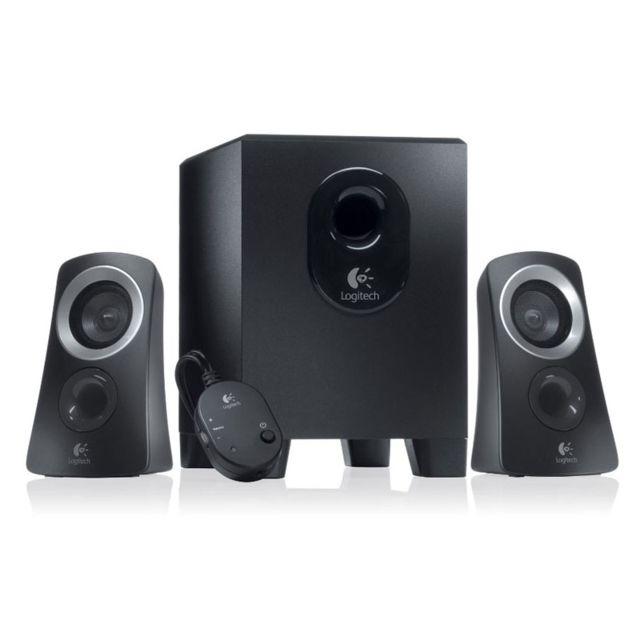 LOGITECH Enceintes multimédia 2.1 - Speaker System Z313 Détendez-vous et savourez votre musique.