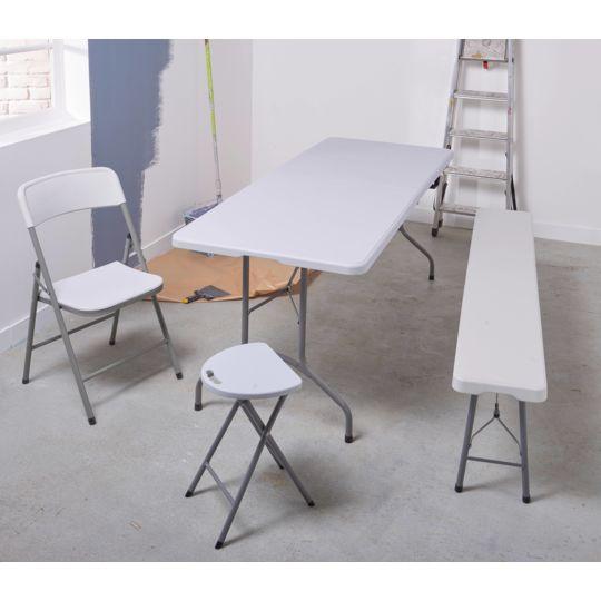 Table pliante multiusage - L 1,80 m - Blanc - 447923 à Prix Carrefour