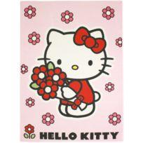HELLO KITTY - Tapis RED FLOWER Tapis Enfants par rose 95 x 133 cm