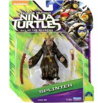 Tortues Ninja - Ninja Turtles - Figurine Tortues - Splinter Avec Accessoires - 12 cm - Tmnt
