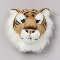 Bibib & Co - Trophée peluche tête d'animal 100% polyester et fibres Trophy