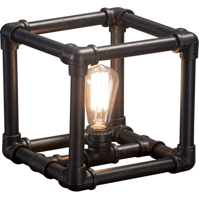 Collection Industriel X Table De 25 Lampe Métallique Noir C Tube Cm Talbot Design En BdoerCx