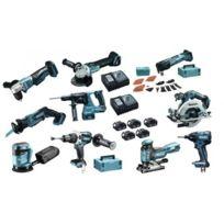 Makita - Pack 10 outils Dlx1002TJ1 à batteries Lxt 18V 5 x 5,0Ah