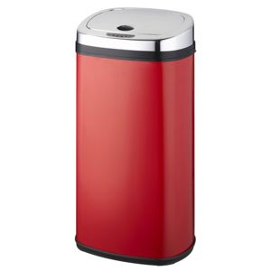 Kitchen move poubelle automatique 42l rouge inox bat for Poubelle cuisine carrefour