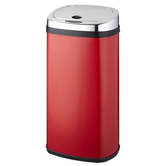 KITCHEN MOVE poubelle automatique 42l rouge/inox - bat-42ls02a red ss