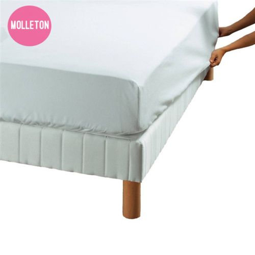 essix drap housse prot ge matelas molleton blanc coton 220gr m 65 x 120 cm pas cher achat. Black Bedroom Furniture Sets. Home Design Ideas