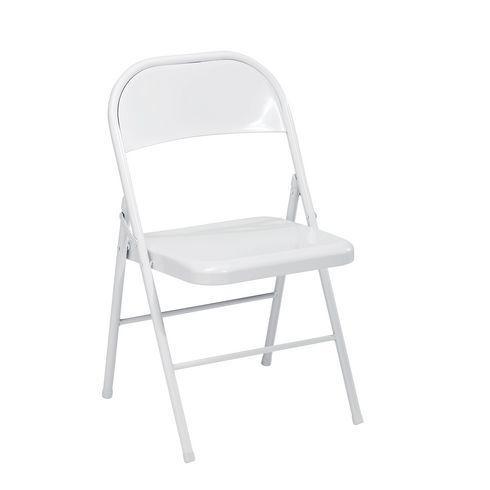 Chaise Pliante Metal Blanche