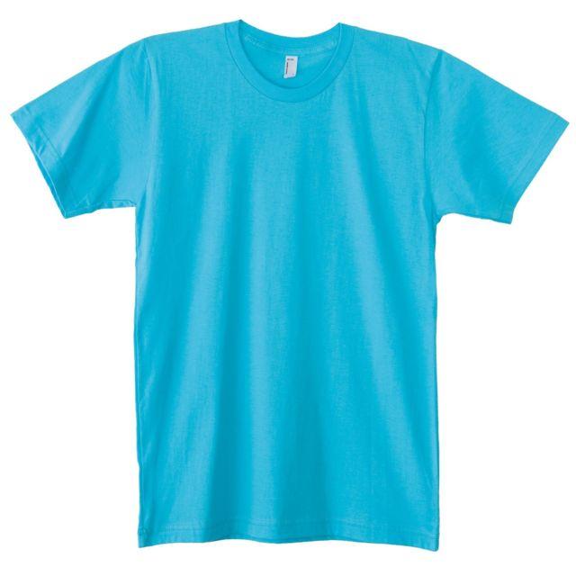 GENERIC American Apparel - T-shirt à manches courtes - Homme L, Turquoise Utrw4034