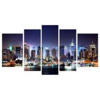 Aucune - City By Night Tableau Multi Panneaux urbain 110x60cm