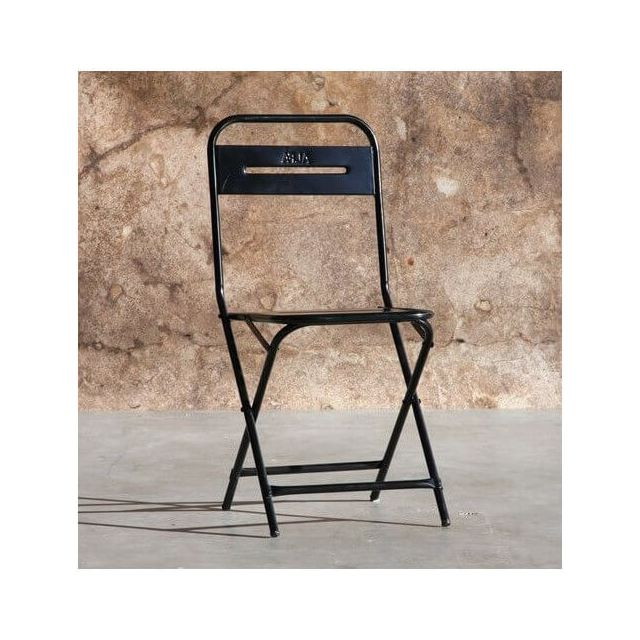 Mathi Design Steel - Chaise pliante en métal noir