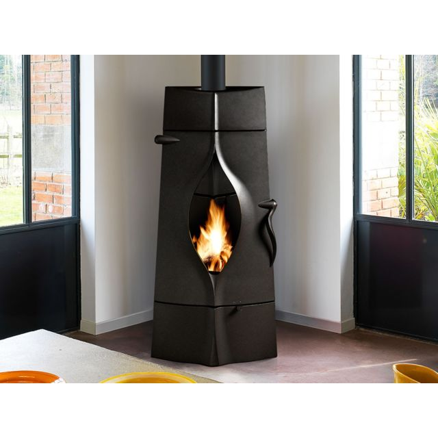 invicta po le bois en fonte oracle anthracite pas cher achat vente po les bois. Black Bedroom Furniture Sets. Home Design Ideas