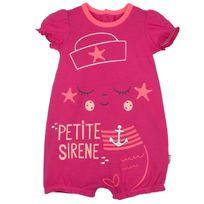 Petit Beguin - Barboteuse manches courtes bébé fille A l'eau - Taille - 12 mois 80 cm