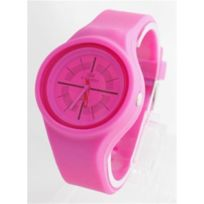 Nwcol10 - Montre pour Femme Bracelet Silicone Rose Fuchsia No Way Watch 85