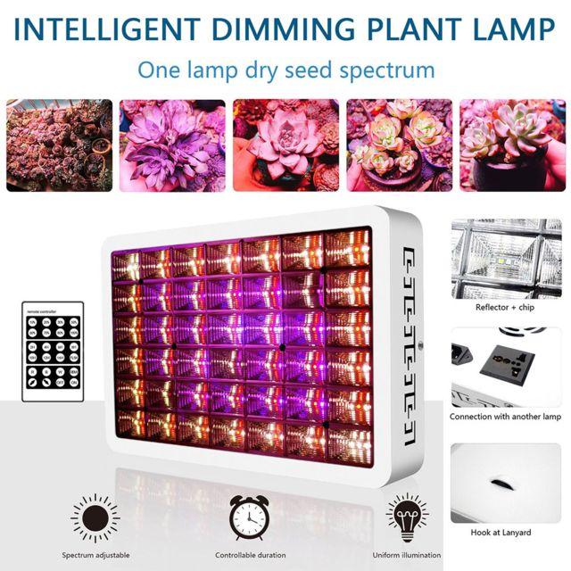 Generic 100W Light Led Full pour la culture de plantes d'intérieur Microgreens hydroponiques dans des tentes