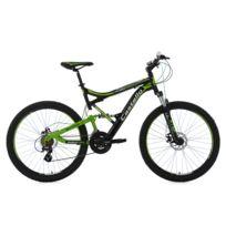 KS CYCLING - VTT tout suspendu 26'' Castello HTX noir-vert TC 51 cm