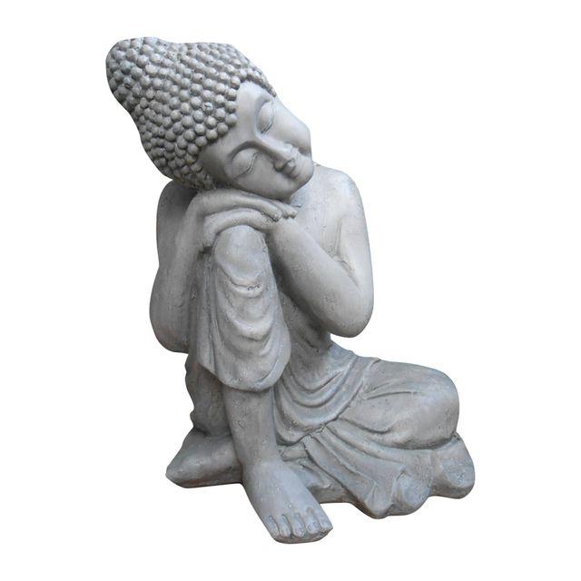 L3C Cdaffaires bouddha penseur h56cm gris