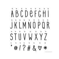 A Little Lovely Company - Set de Lettres Manuscrites pour Lightbox