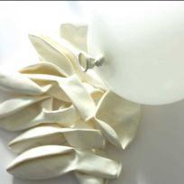 Graines Creatives - Ballons de baudruche gonflables Blanc 10 pièces - Graine créative