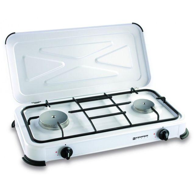 code promo c66e9 fc5c3 Plaque de cuisson 2 feux 2600W à gaz butane ou propane