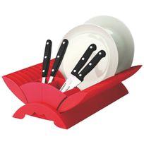 Sunnex - Egouttoir à vaisselle plastique 35x24x11cm Rouge