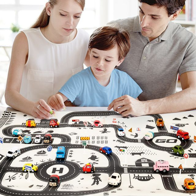 Tapis de jeu interactif pour enfants et parents en coton doux pour enfants - pas cher Achat ...