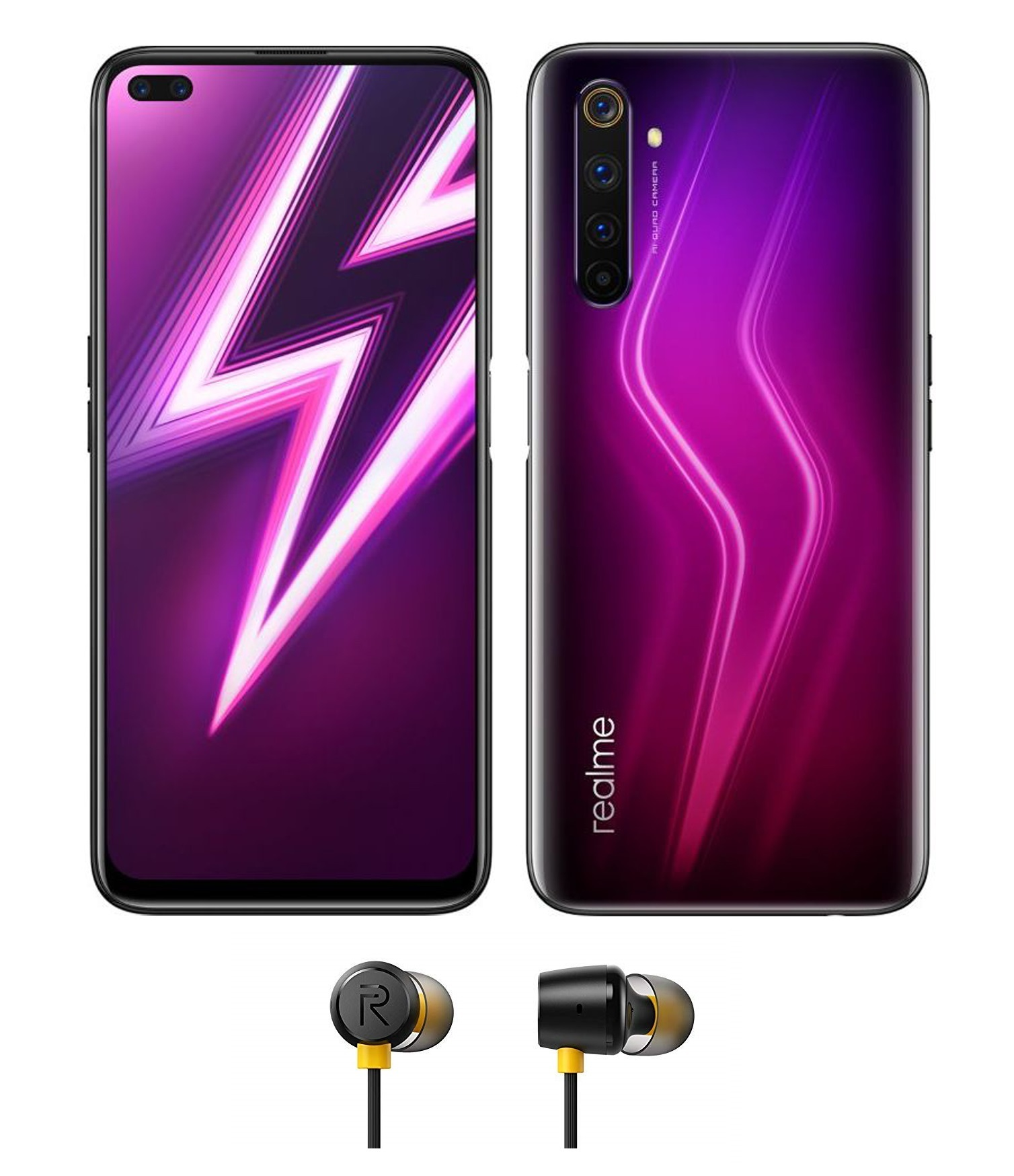 6 Pro - Rouge + realme buds 2