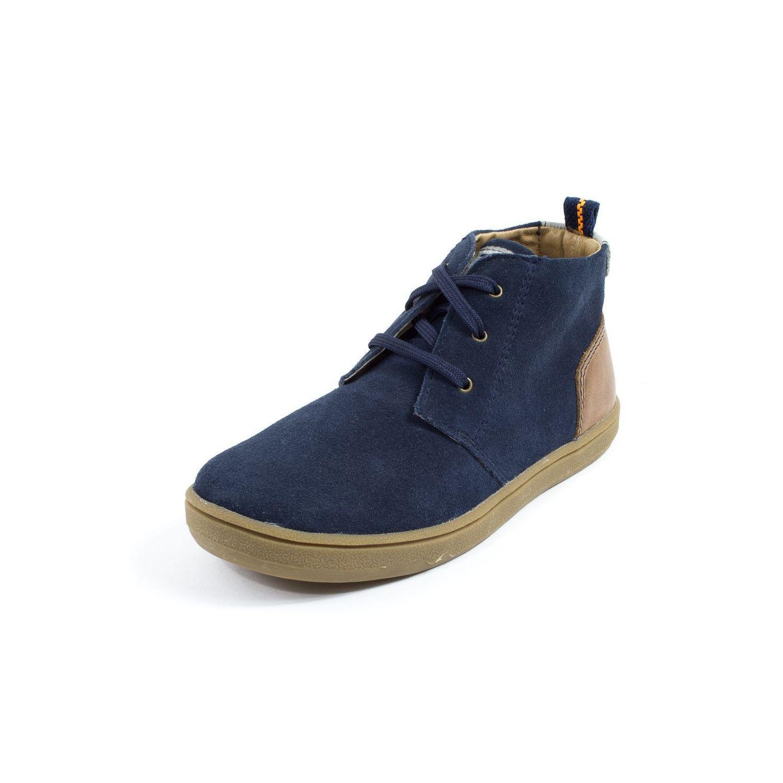 Boots à lacets TTY pour garçon Berlin bleu marine L3Cuokox