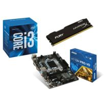 RUE DU COMMERCE - Kit EVO INTEL Office III - INTEL Core i3 6100 - MSI H110M PRO-VD - 4 Go DDR4 KINGSTON