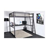 lit mezzanine 140 achat lit mezzanine 140 pas cher rue du commerce. Black Bedroom Furniture Sets. Home Design Ideas