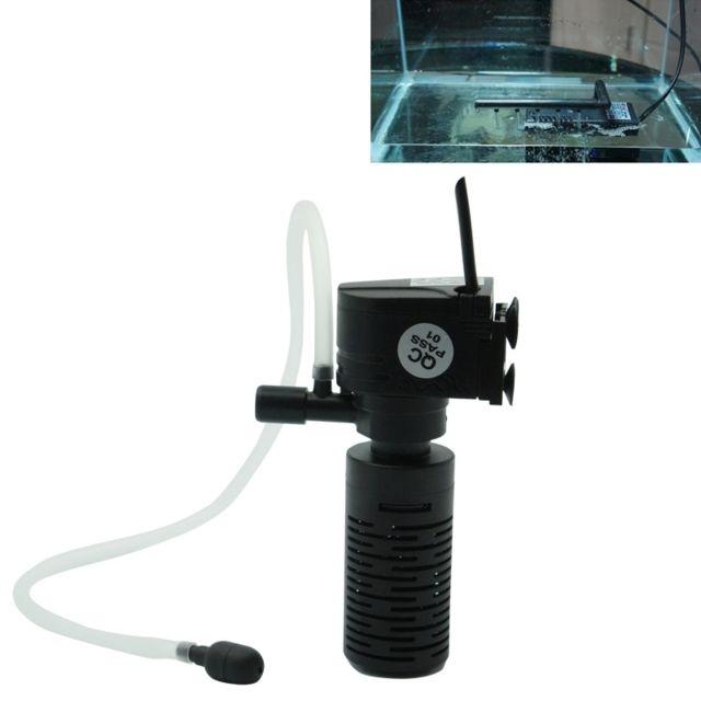 Wewoo Filtre d'Aquarium 3W 300L/H Multi-fonction Mini Submersible Aquarium Pompe à Eau Circulation Fish Tank à Air Intérieur