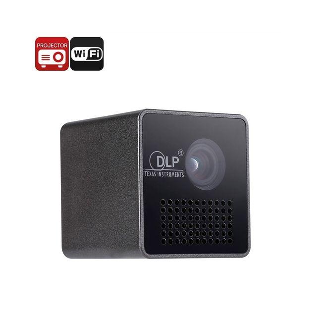 Auto-hightech Mini projecteur Dlp - WiFi, Dlp, 1080p, 35 Lumen, haut-parleur intégré, batterie intégrée