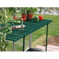 Table rabattable pour serre de jardin, Couleur Laqué vert sapin - longueur  : 1m20