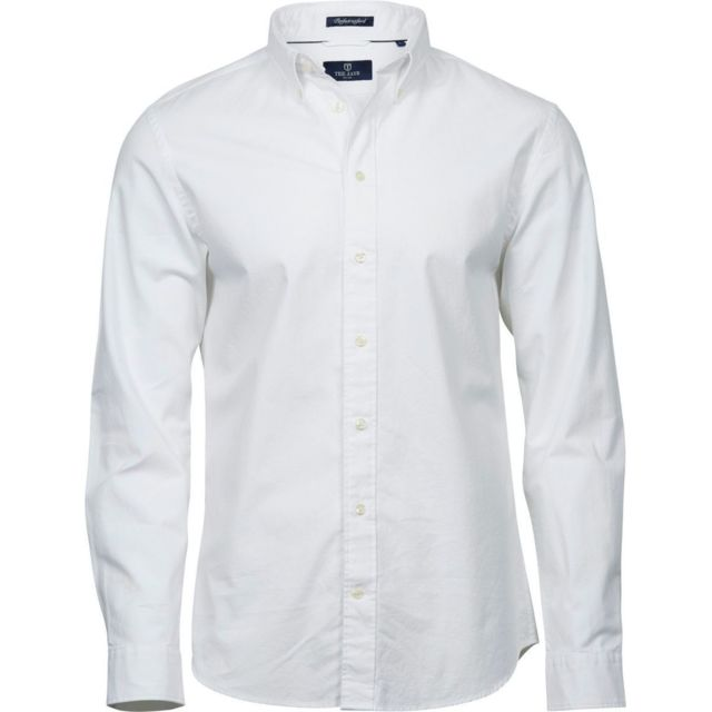 Tee-jays Chemise homme Oxford - 4000 - blanc - manches longues
