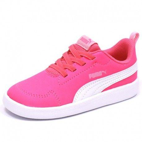 Puma - Chaussures Courtflex Inf Rose Bébé Fille - pas cher Achat   Vente  Chaussures, chaussons - RueDuCommerce 183d7fd949d3