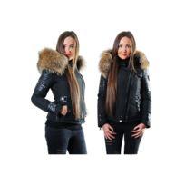 714cd623a1c Ventiuno - Belucci Veste doudoune perfecto fourrure véritable taille Max -  cuir d agneau -