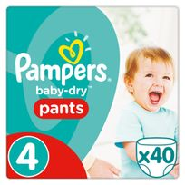 PAMPERS - Baby-Dry Pants -Taille 4 Maxi, 8-15kg - 40 couches
