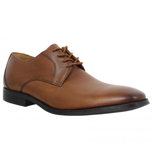 15d4c19cf8a150 Clarks - Gilman Lace cuir Homme-39,5-Tan - pas cher Achat / Vente  Chaussures de ville homme - RueDuCommerce