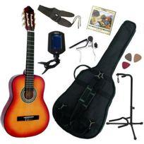 Msa - Pack Guitare Classique 3/4 8-13ans, Pour Enfant Avec 7 Accessoires sunburst
