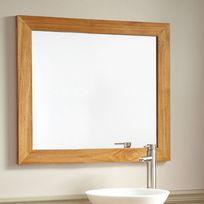 Wildwater - Miroir en teck massif 90 x 70 cm, Leon