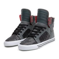 Supra - Sneakers Femme Shoes wmns Skytop Grey / Black / Red - White