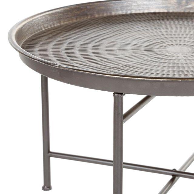 Instinct à naturel en métal café Table 76YbgmIfyv