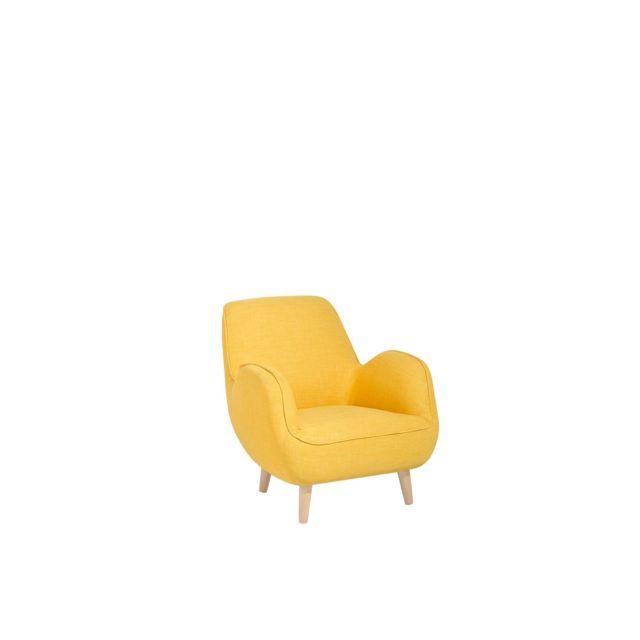 BELIANI Fauteuil élégant en tissu jaune KOUKI - jaune