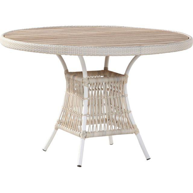 Comforium Table à manger de jardin Ø 117cm en coloris provance