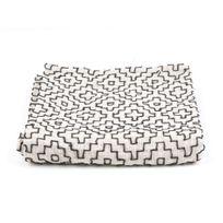 Present Time - Plaid 100% coton motif croix ikat 150x180cm Comfy - Blanc/noirNC