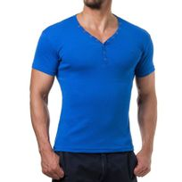 Young And Rich - T shirt homme fashion T shirt 873 bleu roi
