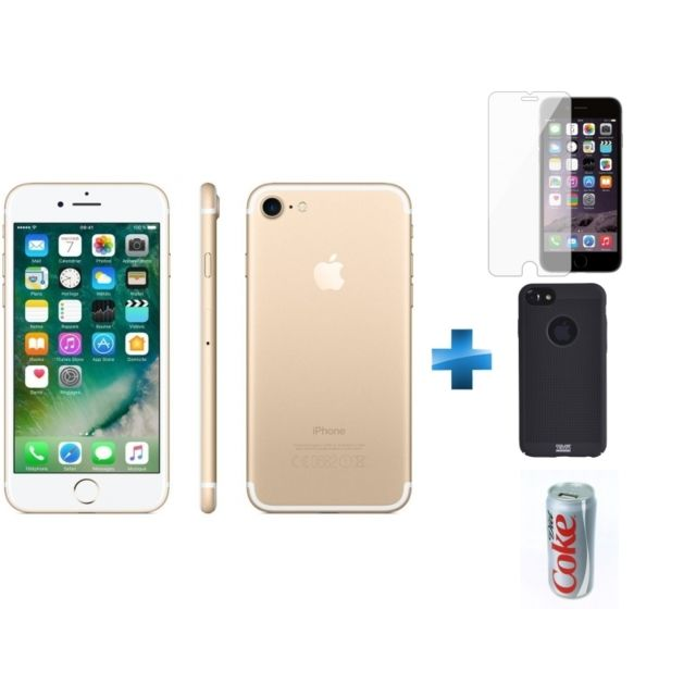 84a54c5fb9e636 APPLE - iPhone 7 - 32 Go - Or - Reconditionné + Verre trempe iPhone 6