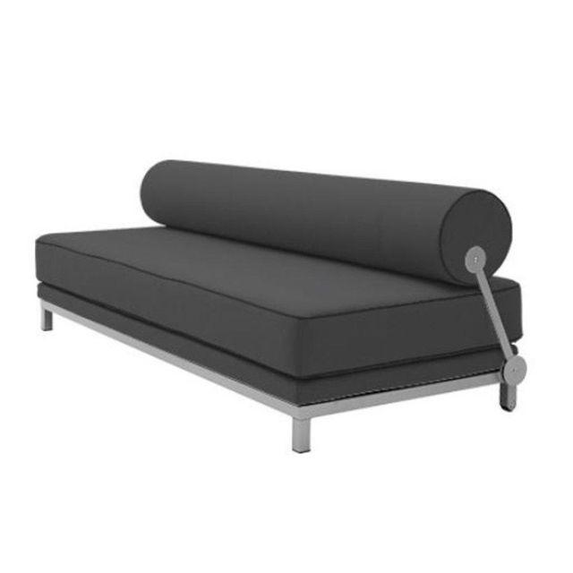 Inside 75 Canapé lit convertible design Sleep en tissu laine gris graphite structure aluminium Softline
